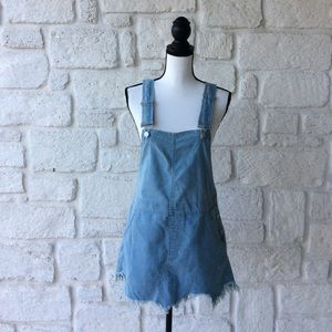 Free People Denim Skirt Overalls / Size 4